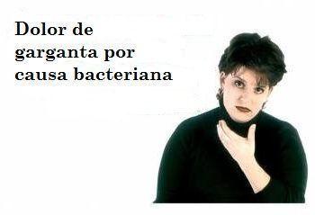 Dolor garganta por bacterias